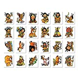24 Mini-Tattoos * INDIANER YANUK * von LUTZ MAUDER // 47310 // Piraten Pirates Geschenk Tattoo Kindertattoos Indian Indianerjunge -