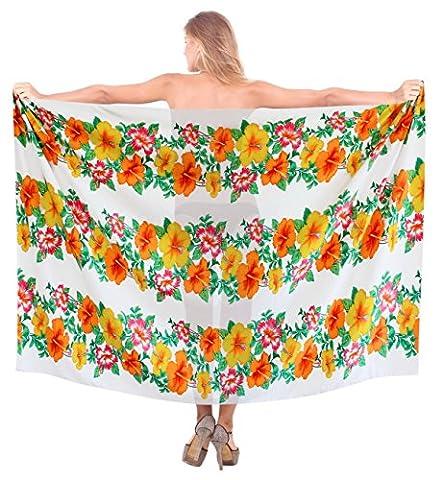La Leela Floral Printed Beach Wrap Swim Hawaiian Sarong Cover