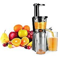 MLITER Entsafter, Slow Juicer, Anti-Oxidation Juicer Extractor, Saftpresse, Kaltpresse, Ruhiger Motor, Gemüse und Obst, Hoher Vitamin- und Enzymgehalt, edelstahl, grau