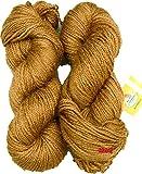 #3: Vardhman Butterfly Brown 200 gm Wool Ball Hand knitting wool / Art Craft soft fingering crochet hook yarn, needle Acrylic knitting yarn thread dyed