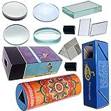 THE CURIOUS BRAIN® Educational Lens, Mirror, Glass SLABE, Prism Set with Periscope, Kaleidoscope & PINHOLE Camera- for Boys &