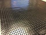 Riffel-Bodenbelag, Gummimatten für Garage, 3m x 1,5m breit x 3mm dick | hochwertig