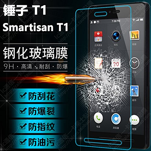Haodasi 9H HD LCD Guard Film Tempered Glass Screen Protector Bildschirmschutz For Smartisan T1