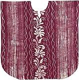 LA LEELA reinen Top Batik Tunika Baumwolle Handarbeit Abend Casual Dress Bikini Kimono Damebadebekleidung verschleiern Lounge Bademode Short Kaftan lila