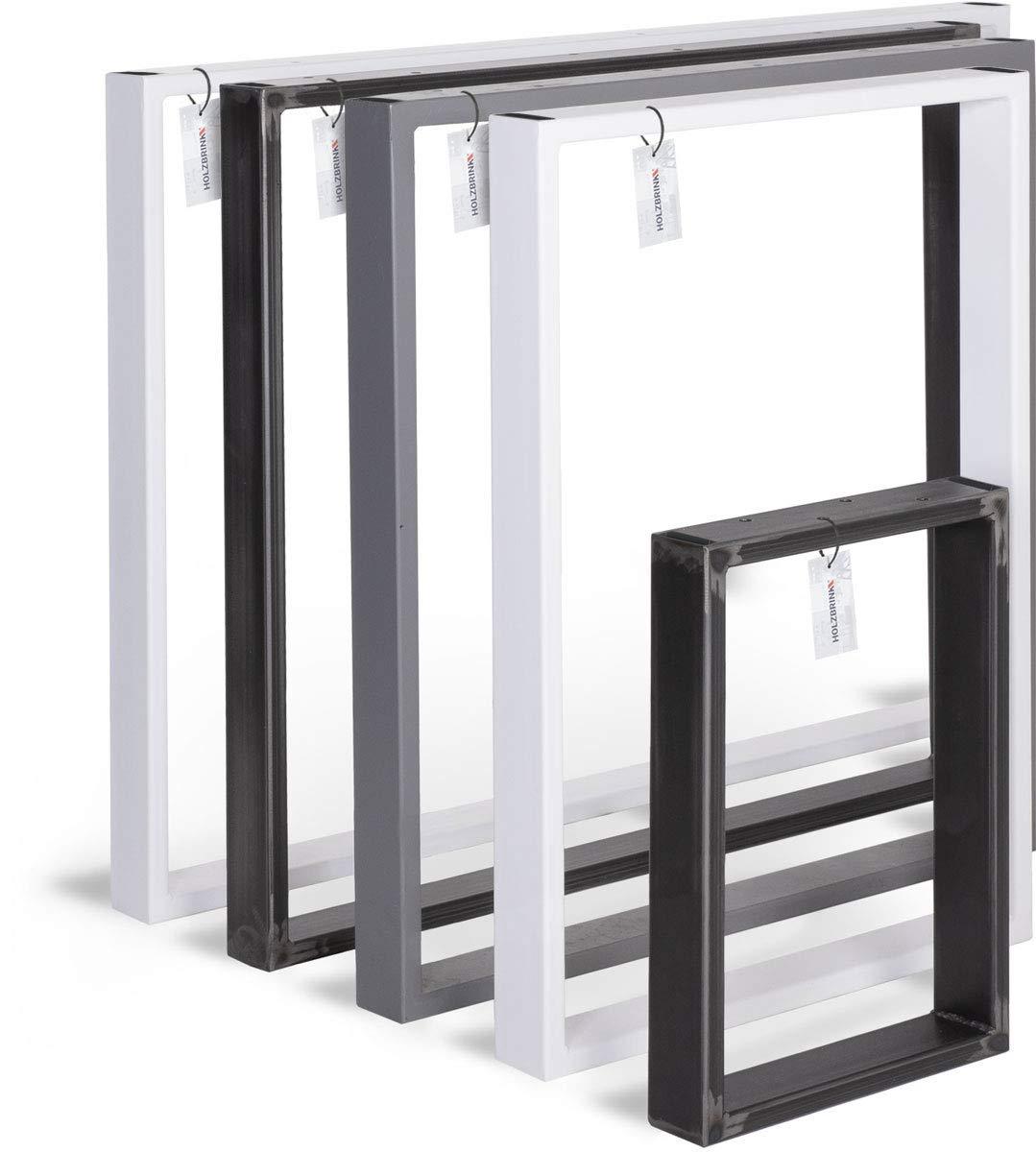 HOLZBRINK Tischkufen aus Vierkantprofilen 60x20 mm, Tischgestell 40x43 cm, Anthrazitgrau, 1 Stück, HLT-01-E-BB-7016 1