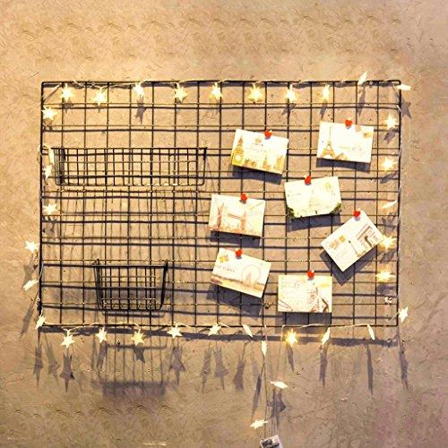 Multifunktionale Raster Foto Wand, Stacheldraht Foto Wand / Wand Kunst Ausstellung und Finishing, (95 * 65 cm, schwarz)