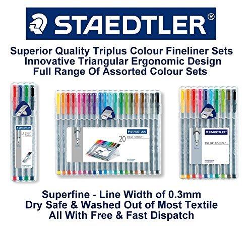 Staedtler Triplus Punto fino 334 SB10 Puntas Sobremesa Caja – Varios Colores