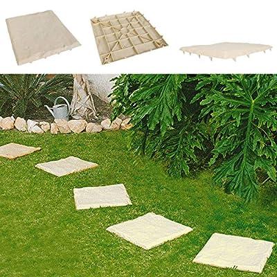 8er-Set Trittsteine Sand-Optik Garten-Gehwegplatten Bodenplatte Beet-Dekoplatten von Starplast auf Du und dein Garten