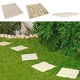 8er-Set Trittsteine Sand-Optik Garten-Gehwegplatten Bodenplatte Beet-Dekoplatten