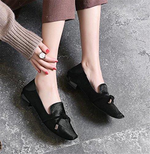In Nero Donne Pelle Mocassino Scarpe Primavera Taille36to41 Ufficio Slittamento Piatto Sul EqqHp