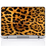 Meffort Inc Personalized Laptop Notebook Skin Sticker Cover Art Decal, Customize Your Name (15.6 Inch, Yellow Leopard)