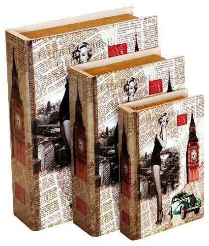 Marilyn Monroe magnétique Lot de 3 boîtes de rangement (cadeau idéal)