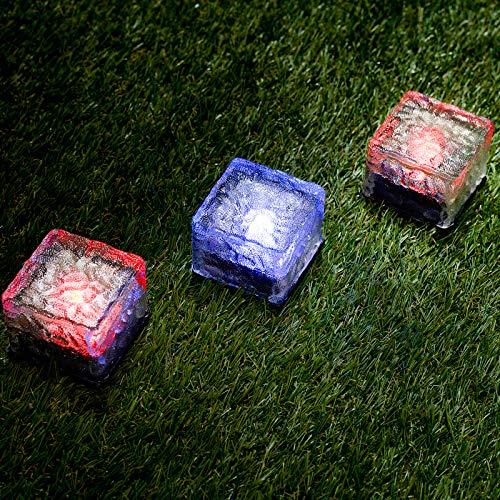GloBrite 3 x farbige LED Solarleuchte Garten Glas Wegleuchte