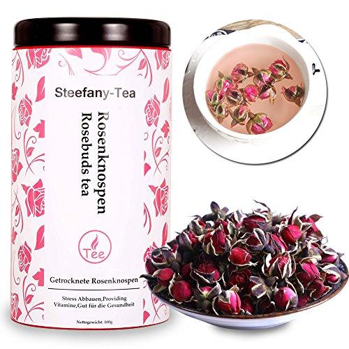 Rose Tea, Rose Petals, Rosebuds Tea, Rosebuds Tea, Dried Rosebuds, Providing Vitamins, Good for Health (100g)