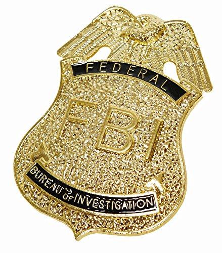 Kostüm Zubehör FBI Marke Karneval Fasching Polizist Agent (Fbi Agent Kostüm Für Kinder)