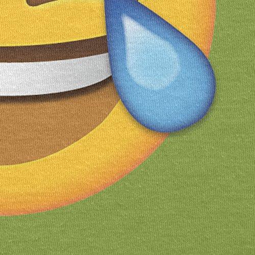 Texlab–Tears Of Joy Emoji–sacchetto di stoffa Verde chiaro