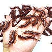 Winkey Baby Novelty Funny Toy, 10Pcs High Simulation Animal Artificial Fake centipede Insect Model Toys Gift for Children & Adult (Centipede)