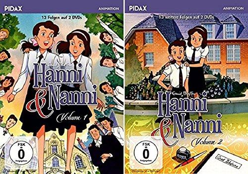 Hanni und Nanni, Vol. 1+2 [DVD Set] Pidax Animation 26 Folgen / Hanni & Nanni