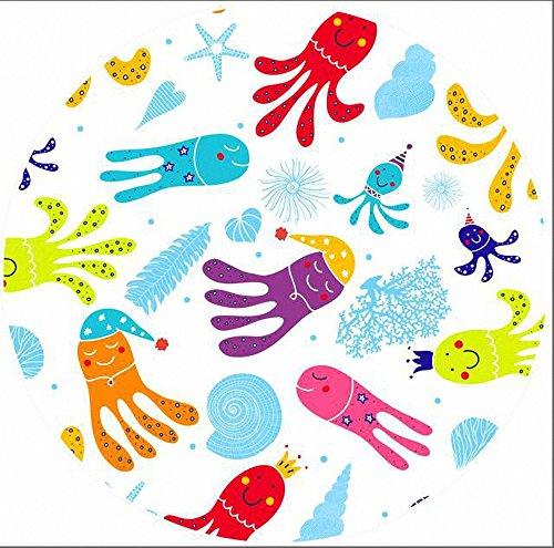 Tropischer Stil Tiere rund Strand Handtuch Decke mit Quasten Ultra Soft Super Wasser absorbierenden Mehrzweck-Strand zu werfen überdimensioniert Octopus 59 - Den Handtücher Für Strand Octopus