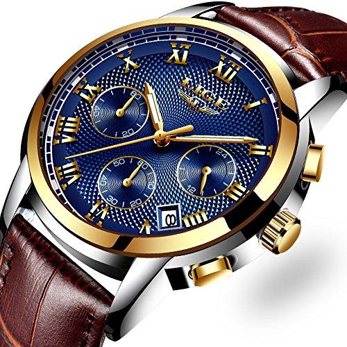 Montres Hommes, d'affaires Luxe Montres bracelet en cuir...