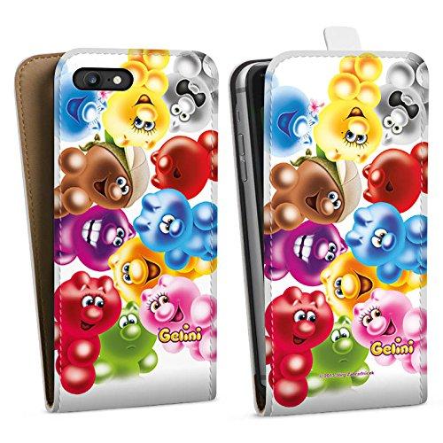 Apple iPhone X Silikon Hülle Case Schutzhülle Gelini Gummibärchen Bunt Downflip Tasche weiß