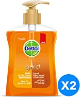 Dettol Gold Anti-Bacterial Liquid Handwash Classic Clean - Pack of 2 Pieces (2 x 200ml)