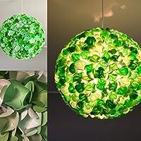 Green Rose Mix, grüne Lampe Leuchte Lampenschirm Pendelleuchte Pendellampe Hängeleuchte Hängelampe Papierleuchte Papierlampe Reispapierlampe Designerlampe Wohnzimmerlampe Schlafzimmerlampe Deckenlampe