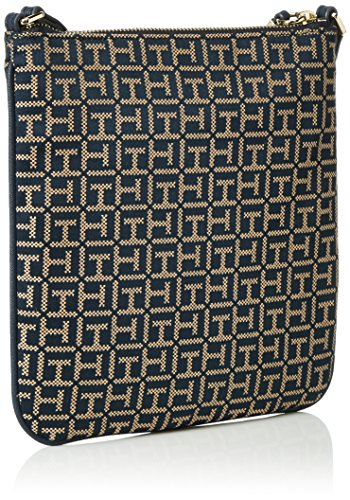 Tommy Hilfiger - TH ESSENTIAL FLAT CROSSOVER JAC, Borsa a tracolla Donna Multicolore (Mehrfarbig (Midnight / Oatmeal 902 902))