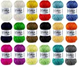 Gründl Cotton Fun Häkelgarn SET Bunt Mix Mischung (10x50 Gr.)