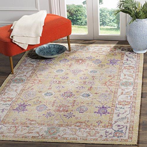 Safavieh Wohnzimmer Teppich, WDS313, Gewebter Poly-Baumwolle, Gold / Lavendel, 160 x 230 cm - Safavieh Transitional Teppiche