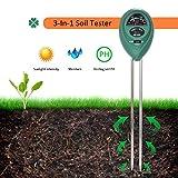 3-in-1 Bodentester Feuchtigkeit Meter Digitales Pflanzen Boden pH Meter Feuchtigkeitsmesser Lichtstärke Meter Tester für Gartenbau Pflanzen Wachstum Rasenpflege (keine Batterie erforderlich) Hmjunboys