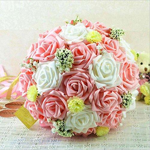 Mock Bubble Rose mariée tenir fleur mariage Bouquet artificielle fleur fournitures de mariage fournitures de vacances (Color : Rose)