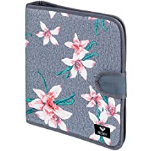 Roxy What A Day Carpeta de 4 Anillas, Mujer, Rosa/Gris (Charcoal