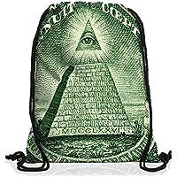 VOID Occhio della Provvidenza Borsa da spalla sacco sacchetto drawstring bag gymsac Dollaro statunitense illuminati - America Del Sigillo