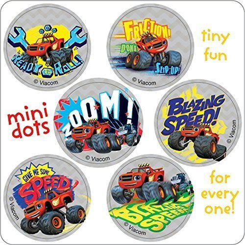 Blaze and the Monster Machine Mini Dots Stickers - Birthday Party Supplies & Favors - 450 per Pack by SmileMakers Inc