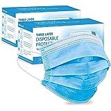 MERRIMEN 3 Ply Face Masks with Elastic Earloops (100pcs) BLUE