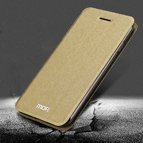 iPhone Case Cover MOFI pour iPhone 7 Crazy Horse Texture Boîtier en cuir flip horizontal avec support ( Color : Blue ) Gold