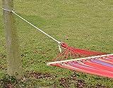 XXL Befestigung für Hängematte an Bäumen | Seilbefestigungsset 6 Meter | Belastbarkeit max. 160 KG | Komplettset - 4