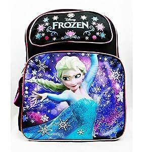 "Backpack - Disney - Frozen Snow Princess Elsa Black 16"" New Girls Bag a04568"