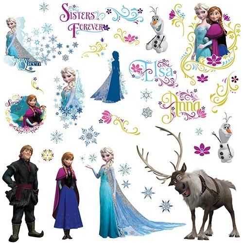 skönigin (Frozen) Wandtattoos/Sticker, geblistert, 4 Blätter, 36 Elemente (Frozen Geburtstag Dekor)