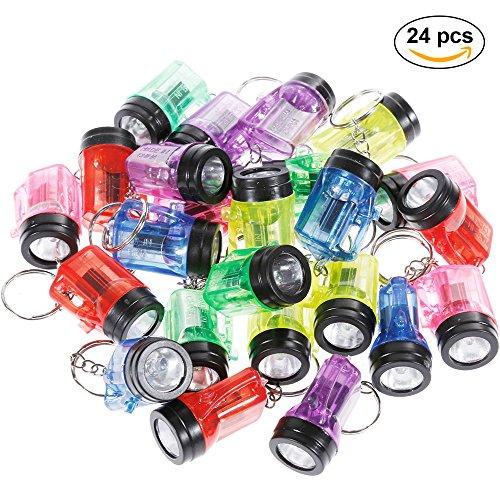 Preisvergleich Produktbild Goldge 24Pcs Schlüsselanhänger Taschenlampe Mini Lampe 4cm
