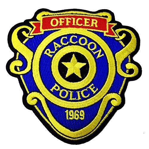 Super6props Resident Evil 2 Remake Leon Kennedy Raccoon City Offizier bestickte Eisen auf Patch (95mm)