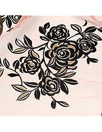 Mousseline soie rose dentelle long Châle foulard écharpe Cappa Pink