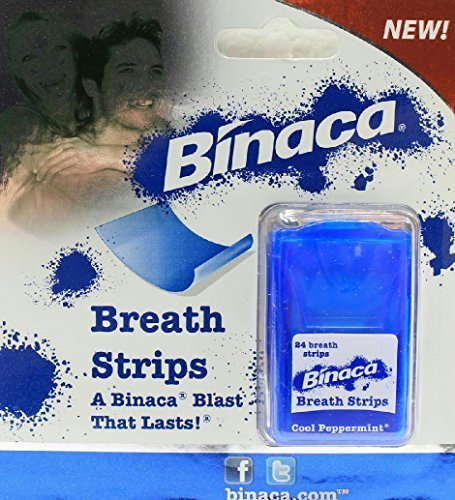 24 Count Binaca Breath Strips Cool Peppermint Freshens Long Lasting (Pack of 2) by Binaca