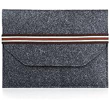 'Fieltro Carcasa for Apple iPad y 10Inch Tablets/Felt Sleeve for iPad and 10tabletas Dunkel Grau