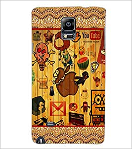 PrintDhaba Graffiti D-5097 Back Case Cover for SAMSUNG GALAXY NOTE 2 (Multi-Coloured)