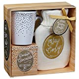 Cosy Chrismtas Hot Chocolate, Mug & Water Bottle Cosy Winter Gift Set (Gold - Stay Cosy)