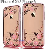 KC Beautiful Luxury Auora Flower & Laser Printed Flowers Soft Transparent Back Cover