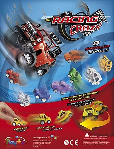 Paquete de 10 coches de carreras de locos mini, tire hacia atrás, verlos girar, hacer los anillos de espuma, Wheelies Etc. Ideal para los rellenos de la bolsa de fiesta / rellenos o premios Pinata.