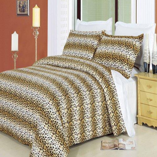 CHEETAH 8pc King Größe Bett in einer Tasche Tröster Set 100% Baumwolle 300TC, inklusive 4Bettlaken-Set + 3-teiliges Bettbezug Set +, die Alternative Tröster von Royal Hotel (Ägyptische Baumwolle Bett In Einem Beutel)